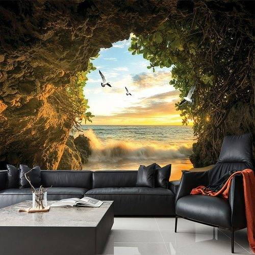 Custom 3D Wallpaper Cave Nature Landscape TV Background Wall Mural Wallpaper For Living Room Bedroom 500 750