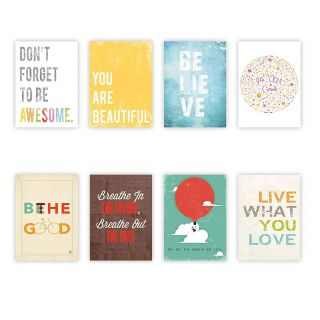 Affordable Wall Art Decor Elegant Inspire Mini Collection 5x7 Wall Cards Typography Nursery Decor Kid S Wall Art Print Kid S Room Decor Gender Neutral Motivational Word Art