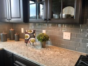 Alternatives to Granite Countertops New Color Wave 3x6 Smoked Pearl Glass Tiles In Brick Joint