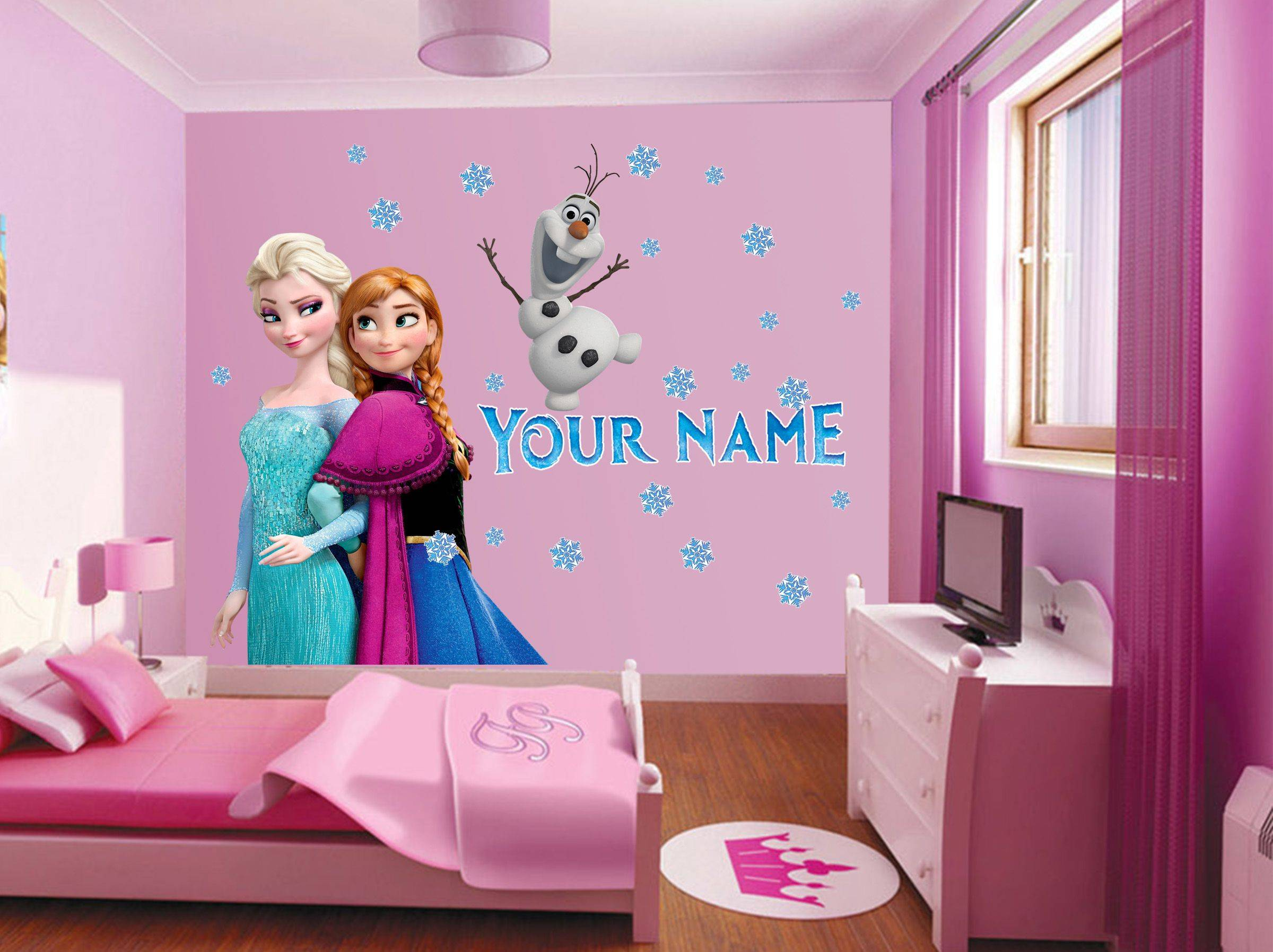 frozen wall decor images disney growth chart bedroom by elsa olaf personalized custom name room ideas themed baby inspired diy and anna accessories accessory set decorating little
