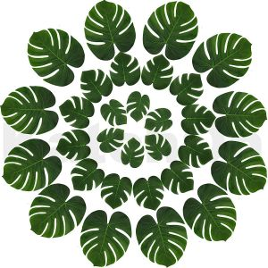 Artificial Leaves for Decoration Inspirational Real Looking Artificial Plant Leaves Pack Of 30 Monstera Palm Leaves Tropical Leaves Decorations Palm Leaves Decorations
