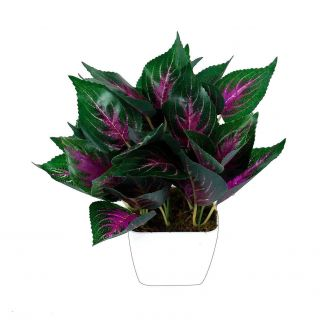 Artificial Leaves for Decoration Inspirational Yutiriti Miniature Leaf with Square Pot Multicolour Artificial Tree Plastic Pack Of 1