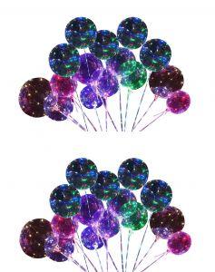 Avon Christmas Decorations Fresh atorakushon Colourful Led Transparent Round Bubble Glow In