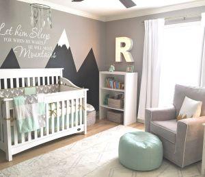 Baby Boy Wall Decor Unique Design Reveal Mountain Inspired Nursery