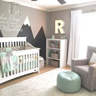 Baby Boy Wall Decor Unique Design Reveal Mountain Inspired Nursery