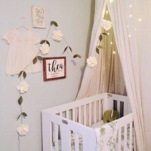 "Baby Girl Room Ideas Beautiful Natural Neutral Simple ""themed"" Nursery Dreamy Boho"