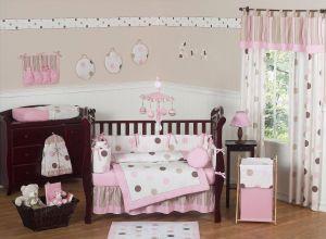 Baby Girl Room Ideas Fresh Pink & Brown Polka Dot Baby Crib Bedding 9pc Girl Nursery