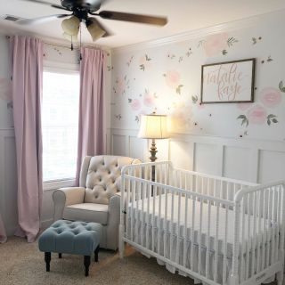 Baby Girl Room Ideas Luxury Baby Girl Nursery Floral Walls Floral Nursery Pink