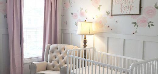 Baby Girl Room Ideas Luxury Baby Girl Nursery Floral Walls Floral Nursery Pink