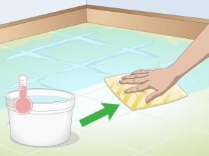Baking soda and Vinegar to Clean Grout Beautiful 3 Ways to Clean Tiles Wikihow