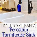 Baking soda to Clean Bathtub Lovely How to Clean A Porcelain Farmhouse Sink