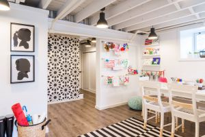 Basement Playroom New An Artful Room Fit for Young Artists Basement Ideas