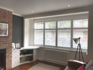 Bay Window Furniture Inspirational Full Height Shutters Installed In An L Shaped Bay Window by