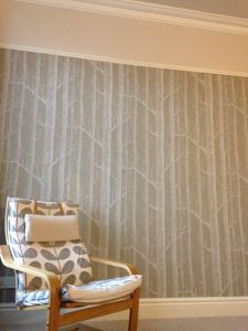 Beautiful Wallpaper Bedroom From Teen Beautiful Our Bedroom Trees Wallpaper and Just Walnut Dulux Paint