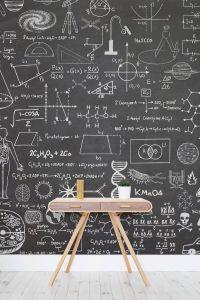 Beautiful Wallpaper Bedroom From Teen Unique Science Chalkboard Wallpaper Mural Muralswallpaper