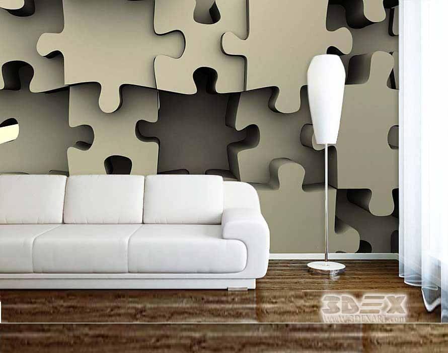New 3D wallpaper for living room walls 3D wall murals designs ideas patterns