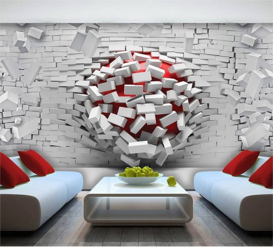 Modern 3d wallpaper murals and designs for living room %