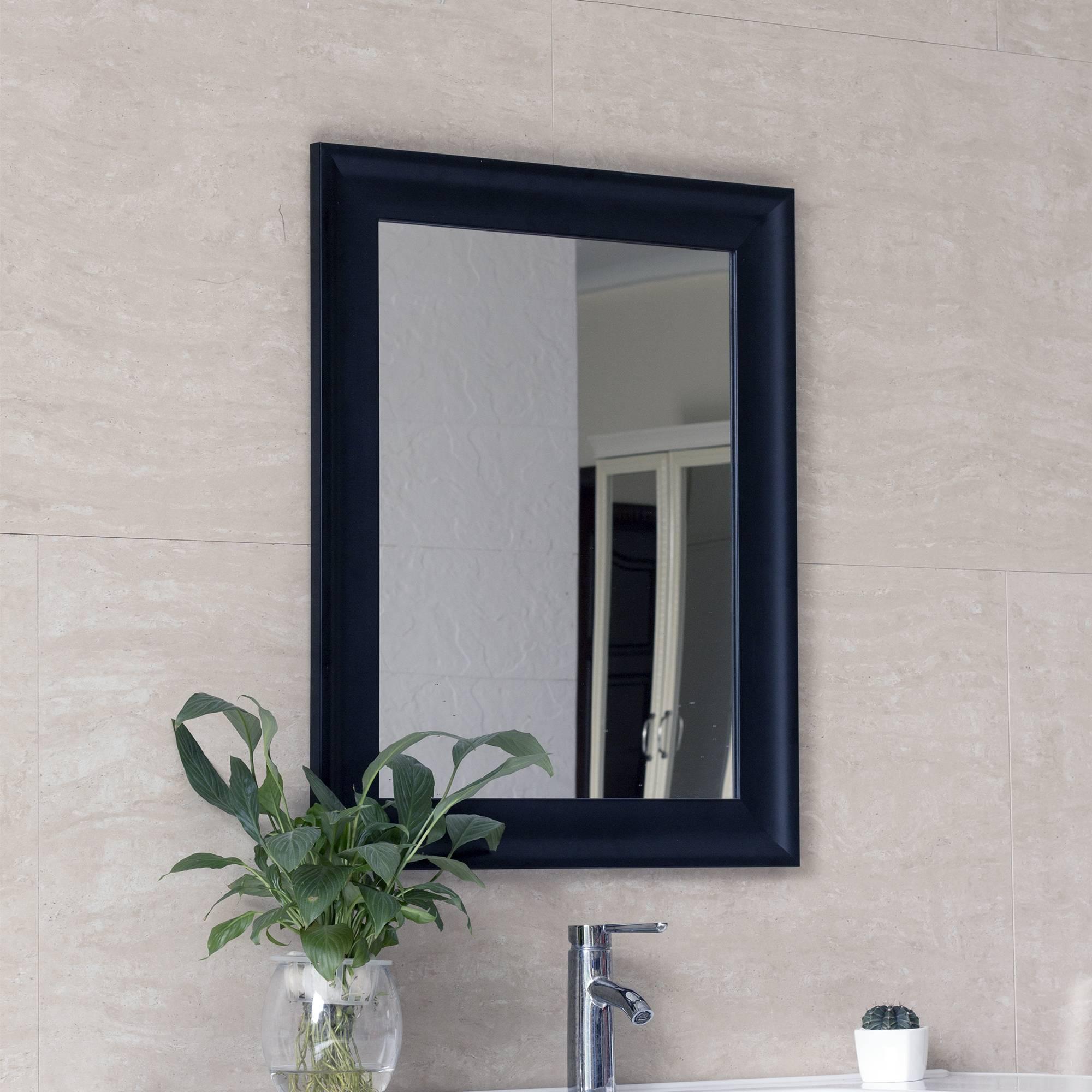 Black Modern Wall Mirror 1824 3