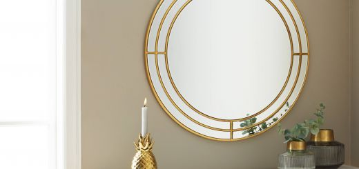 Bedroom Wall Mirrors Decorative Fresh Gladys Gold Mirror 80cm 31 Products In 2019