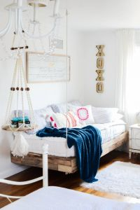 Beds Ideas New Girls Room Refresh with Diy Hanging Bed