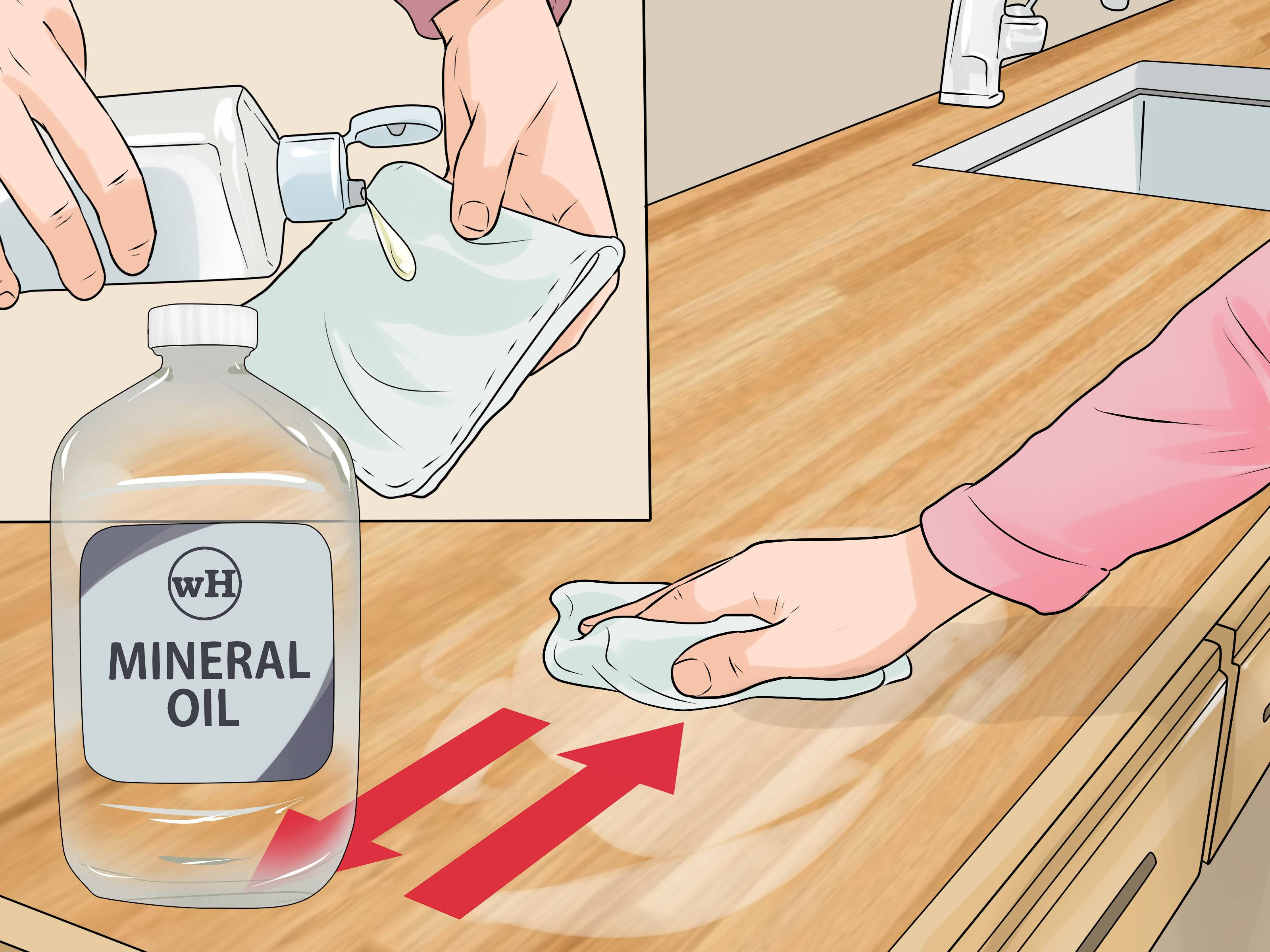 cleaning old hardwood floors with vinegar of 3 ways to clean wood countertops wikihow pertaining to clean wood countertops step 9