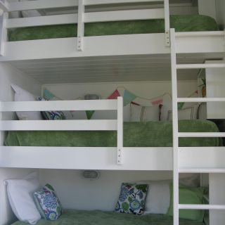 Build Bunk Beds Beautiful Triple Built In Bunk Beds Each Has Its Own Book Shelf Wood