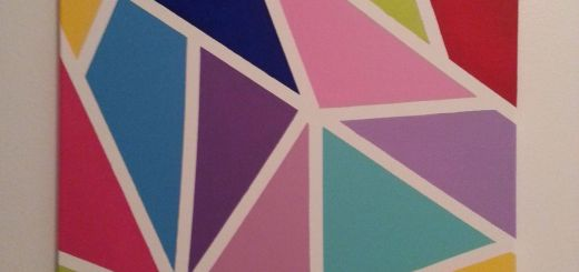 Canvas Wall Art Ideas Fresh Colorful Canvas Made with Masking Tape and Acrylic Paint