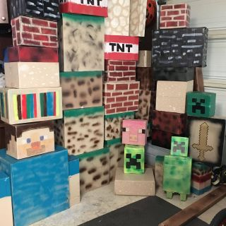 Cardboard Design Ideas Lovely I Collected Cardboard Boxes Painted and Spray Painted them