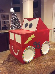Cardboard Design Ideas Unique Lightning Mcqueen Car Made Out Of A Cardboard Box Paper