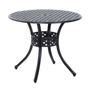 Cast Iron Garden Decor Lovely Outsunny Round Cast Aluminum Outdoor Dining Table Black