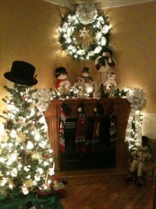 Christmas Decorating Ideas Fresh My Corner Fireplace Decorated for Christmas