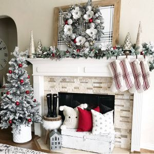 Christmas Decorating Ideas Living Room Lovely Christmas Mantel Ideas How to Style A Holiday Mantel