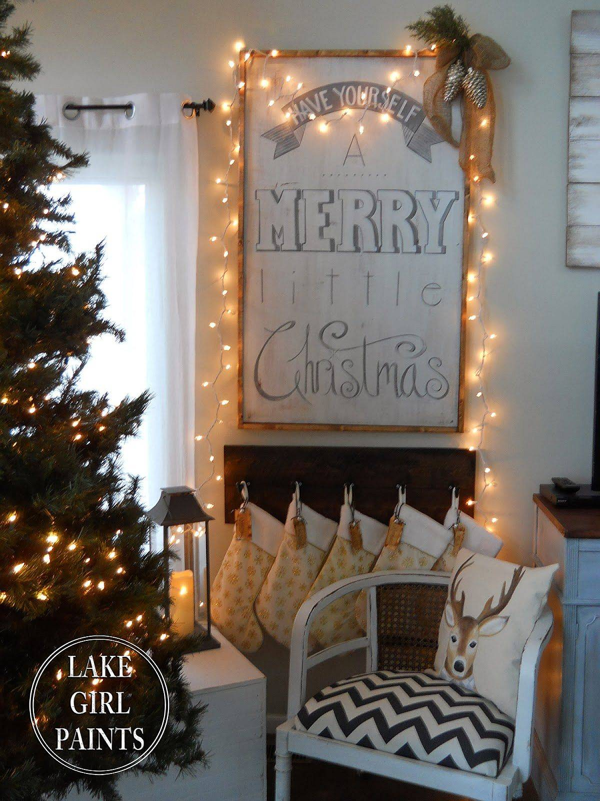 DIY Christmas sign without all the red