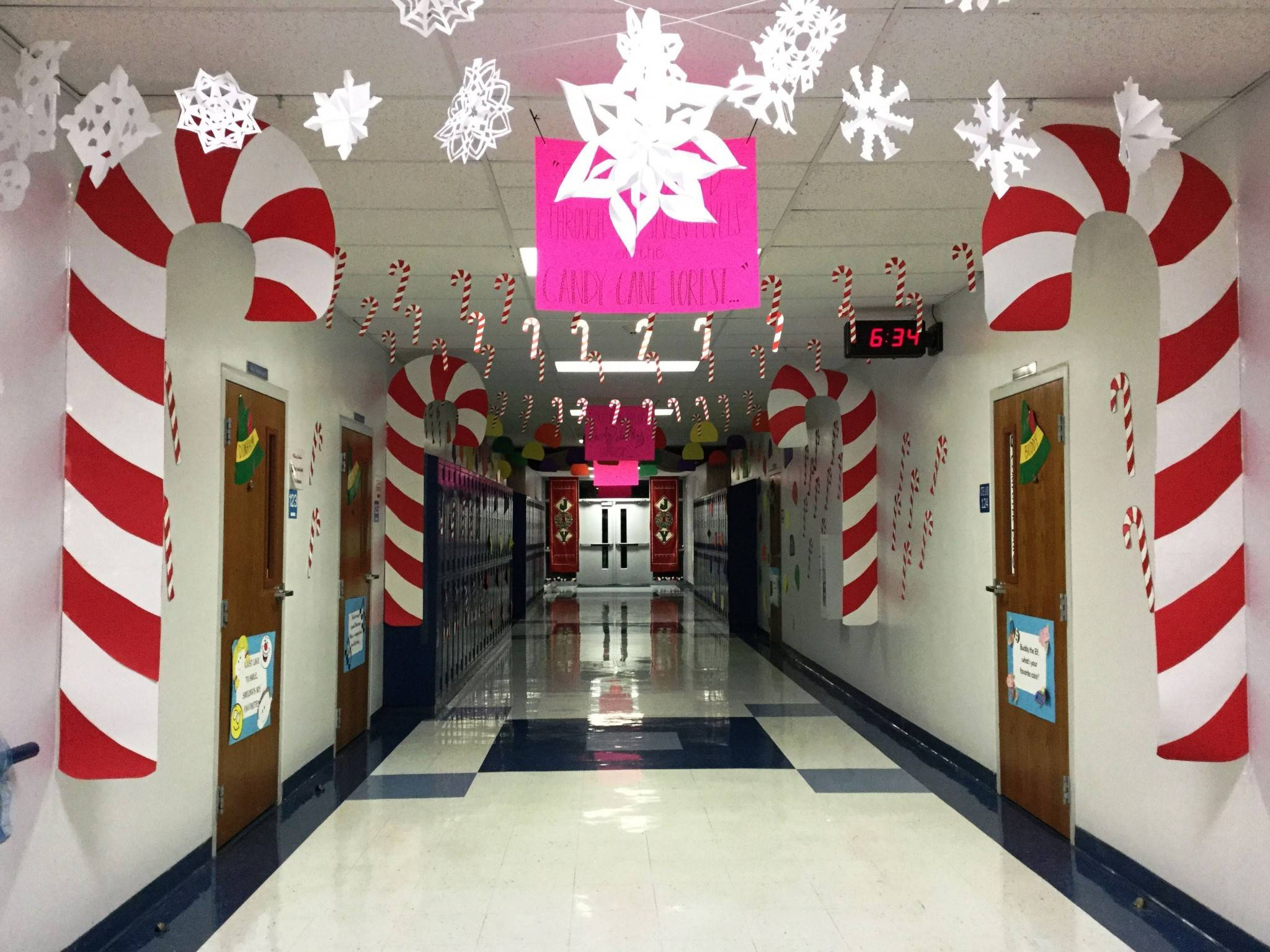 candy cane christmas office decorating ideas