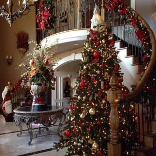Christmas Home Decor Elegant My Foyer Decorated for Christmas