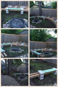 Cinder Block Projects Luxury Diy Cinder Block Seating Around A Firepit with Rope Lighting