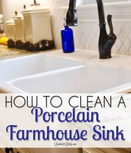 Cleaning with Vinigar Elegant How to Clean A Porcelain Farmhouse Sink