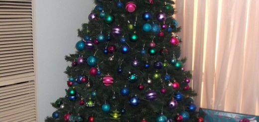 Colorful Christmas Tree Decorations Awesome Christmas 2011 Multi Coloured theme Pink Blue Purple Green