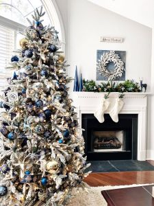 Colorful Christmas Tree Decorations Inspirational Blue and Silver Christmas Tree for the Living Room 2 Bees