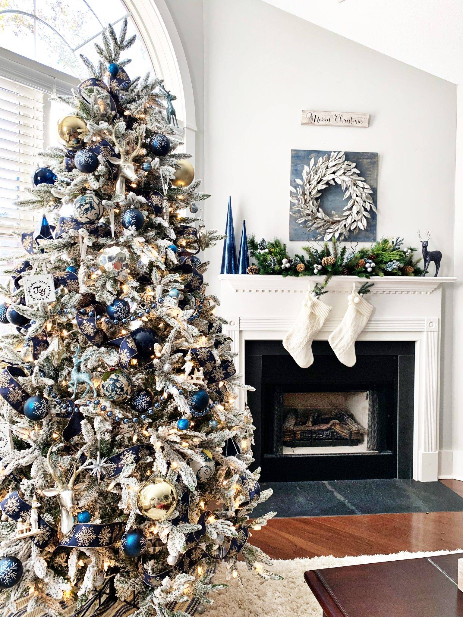 Blue and Silver Christmas Tree Decor