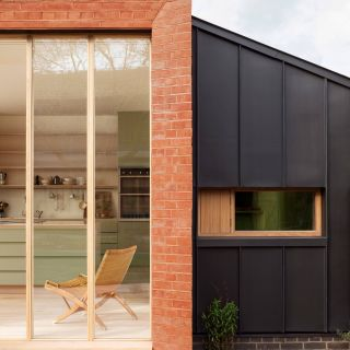 Contemporary Brick Elegant Architect Laura Dewe Mathews Has Added A Staggered Red Brick