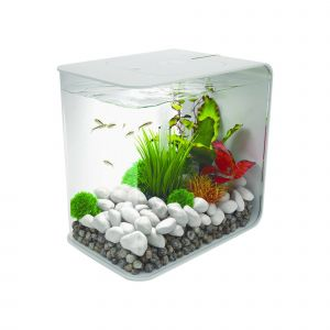 Contemporary Fish Tanks Beautiful Biorb Flow 15 with Led Lights Aquarium White