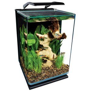 Contemporary Fish Tanks Beautiful Marineland 5 Gallon Portrait Glass Led Aquarium Kit