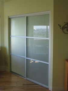 Contemporary Glass Doors New Frosted Glass and A Silver Frame Finish are A Perfect Match