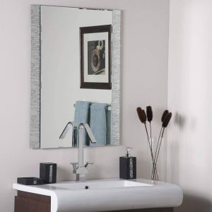 Contemporary Wall Mirrors Decorative Awesome Decor Wonderland Frameless Molten Wall Mirror