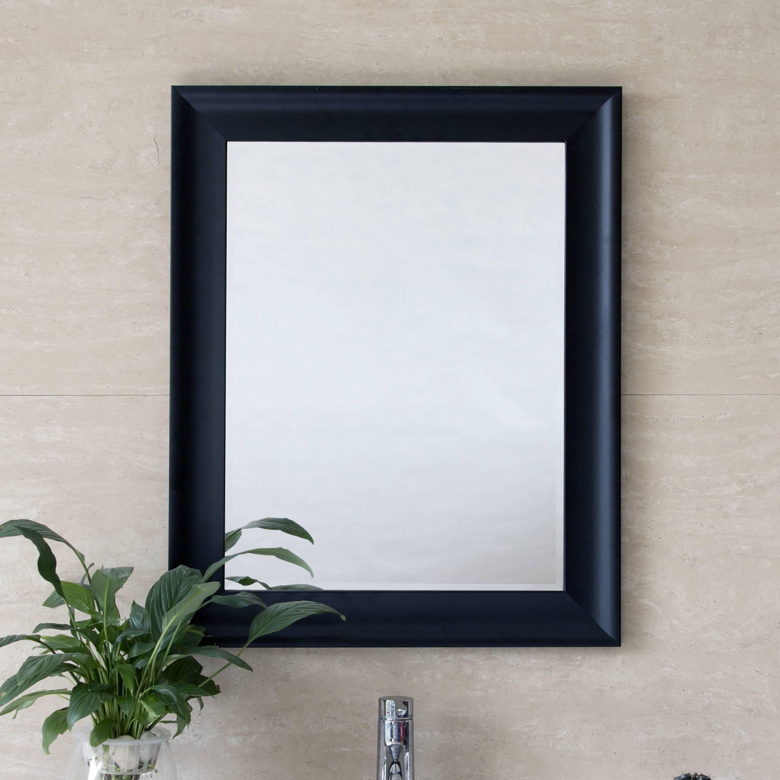 Black Modern Wall Mirror 1824 1