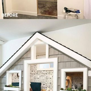 Coolest Basements Best Of before and after the Sweetest Small Indoor Playhouse