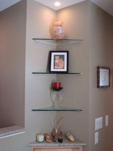 Corner Shelf Designs Inspirational Glass Corner Shelving Unit Living Room