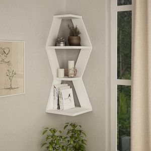Corner Shelf Designs Lovely Amazon White Corner Wall Shelf Industrial Wall Mounted