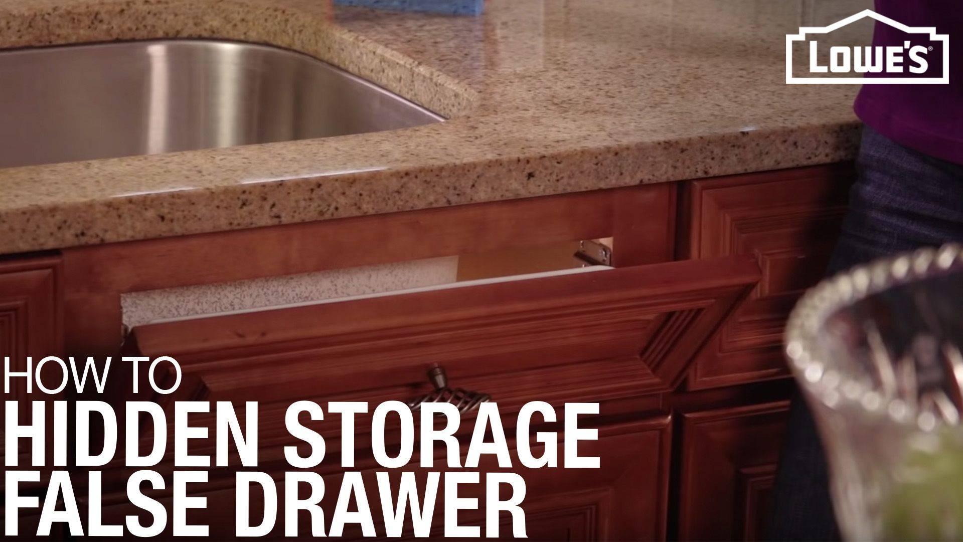 ht hidden storage false front drawer